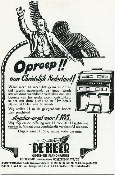 Advertentie van JdH 1927 (orgel-advertentie)