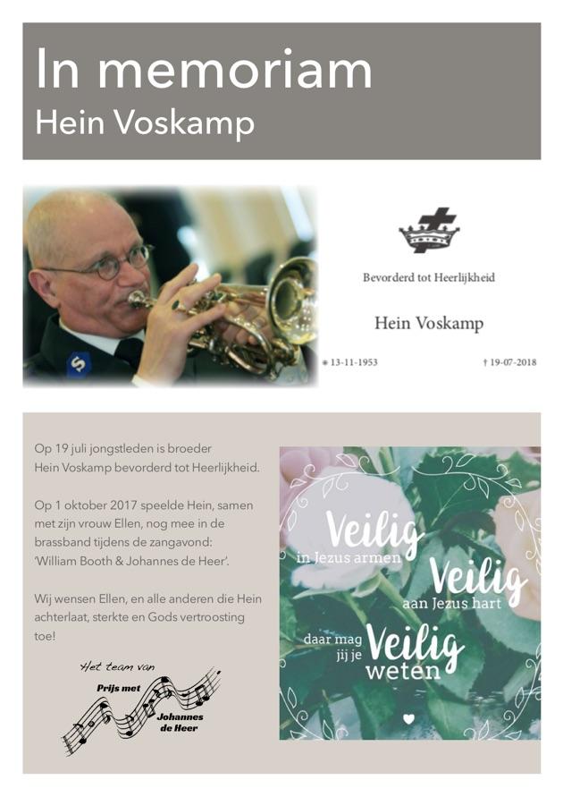 Hein Voskamp (in memoriam)