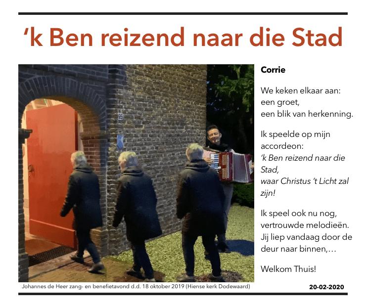 Afscheidsgroet aan Corrie Geurts-van Schaijk (PMJDH - 20 februari 2020)